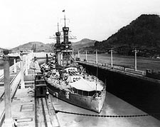 U.S.S. Arizona Battleship in Panama Canal Photo Print for Sale