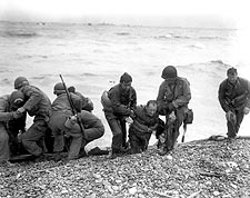 U.S. Troops on Omaha Beach in Normandy 1944 WWII Photo Print for Sale