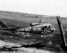 UH-1 Huey Helicopter Mekong Delta Vietnam Photo Print for Sale