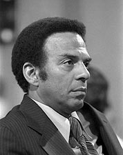 UN Ambassador Andrew Young B&W Portrait Photo Print for Sale