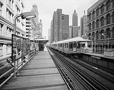 Union Elevated Railroad's Randolph-Wabash Station, Chicago Photo Print for Sale