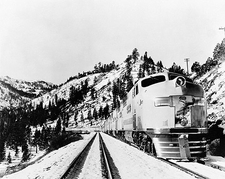 Union Pacific Streamliner Railroad Train Photo Print