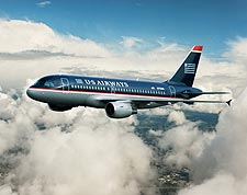 US Airways Airbus A320 in Flight Photo Print for Sale