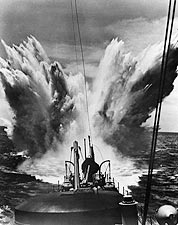 Enemy Bombing of U.S. Ship WWII 1940s Photo Print for Sale