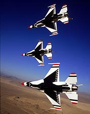 USAF Thunderbirds in Flight View Photo Print for Sale