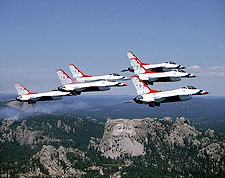 USAF Thunderbirds over Mount Rushmore Photo Print for Sale