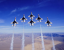 USAF Thunderbirds Vertical Formation Photo Print for Sale