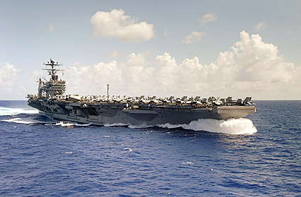 USS Abraham Lincoln (CVN 72) & Carrier Air Wing (CVW) Two Photo Print