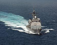 USS Bunker Hill (CG 52) at Sea Photo Print for Sale