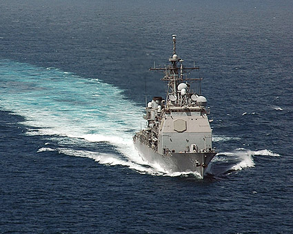 USS Bunker Hill (CG 52) at Sea Photo Print