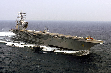 USS Dwight D. Eisenhower (CVN 69) at Sea Photo Print