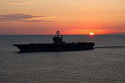 USS John F. Kennedy Aircraft Carrier Photo Print