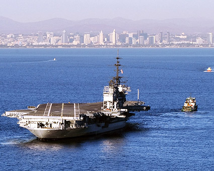 USS Midway CVB-41 Moved to San Diego Bay Photo Print