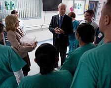Vice President Biden at Landstuhl Regional Medical Center Photo Print for Sale