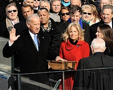 Vice President Joe Biden Taking Oath of Office Photo Print for Sale