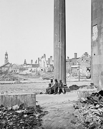 View of Destroyed Buildings Civil War 1865 Photo Print
