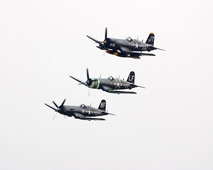 Vought F4U Corsair WWII Aircraft Formation Photo Print