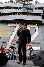 Wayne Newton Aboard USS Abraham Lincoln Photo Print for Sale