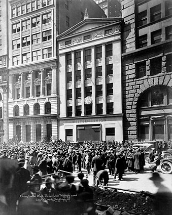 Western Union Building Crowd 1921 New York Photo Print