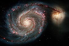 Whirlpool Galaxy Hubble Space Telescope Photo Print for Sale