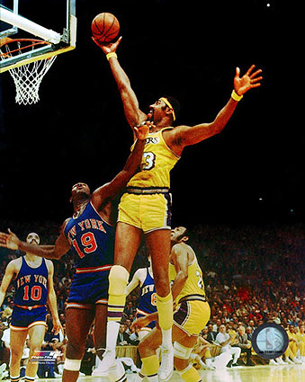 Wilt Chamberlain Dunk Lakers Basketball Photo Print