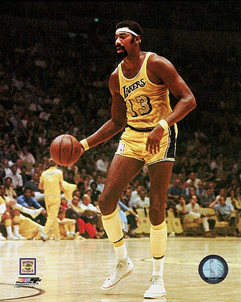 Wilt Chamberlain Los Angeles Lakers Basketball Photo Print