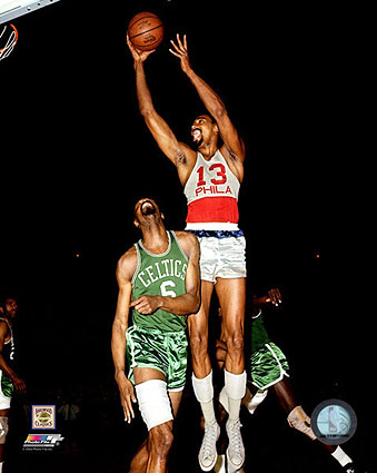 Wilt Chamberlain Philadelphia 76rs 1966 Basketball Photo Print