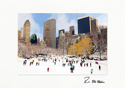 Wollman Rink Central Park New York City Individual Christmas Cards
