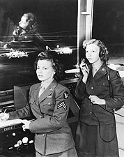Women's Army Corps in Control Tower Photo Print for Sale