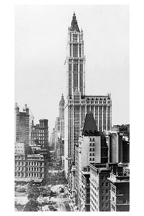 Woolworth Building & Broadway NYC 1913 Photo Print