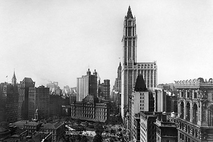 Woolworth Building & City Hall Park, New York City Photo Print