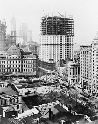 Woolworth Building Construction 1912 Irving Underhill  Photo Print