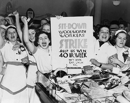 Woolworth Female Employees Strike 1937 Photo Print