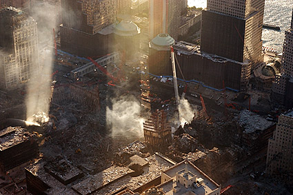 World Trade Center Aerial View 9/11 Photo Print