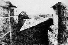 World's First Photograph Joseph Niépce 1826 Photo Print for Sale