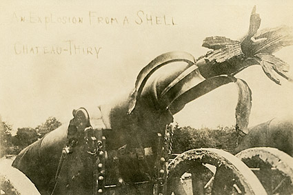 WWI Cannon at Battle of Château-Thierry 1918 Photo Print