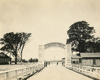 WWI Era Entrance to Langley Field Photo Print