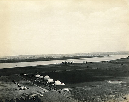 WWI Observation Balloons on Ground in France Photo Print