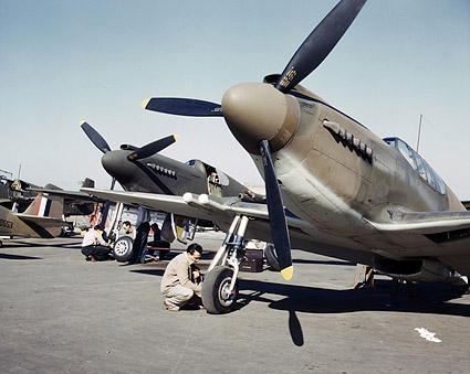 WWII A-36 Apache/Invader Fighter Planes Photo Print