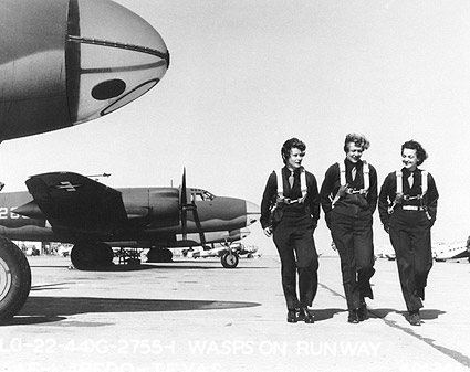 WWII Air Force WASPs on Flight Line  Photo Print