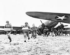 WWII Airborne Infantry Unloading Ammunition Photo Print for Sale