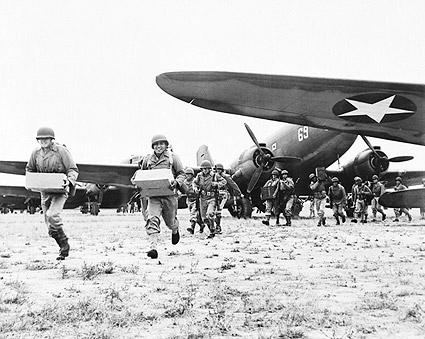 WWII Airborne Infantry Unloading Ammunition Photo Print