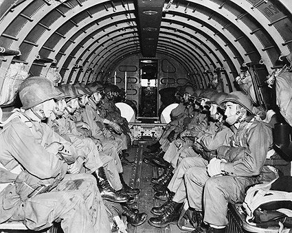 WWII Airborne Paratroopers Ready to Jump Photo Print
