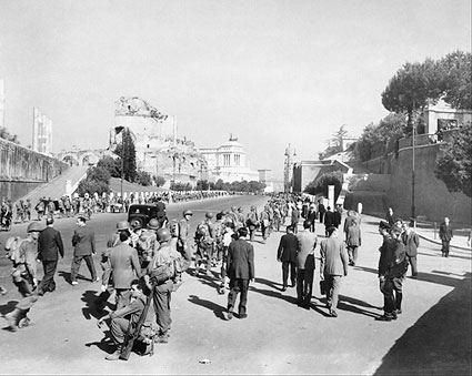 WWII American Infantry Soldiers Rome Italy Photo Print