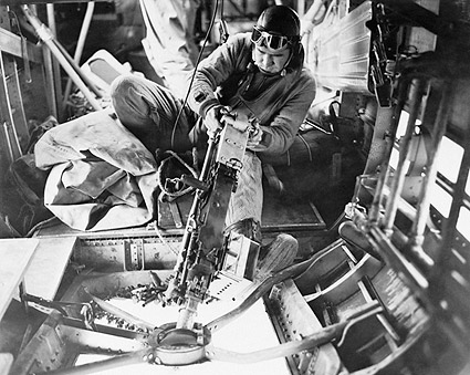 WWII B-24 Liberator Bomber Belly Gunner Photo Print