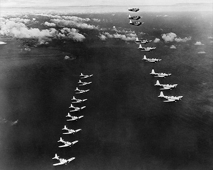 WWII Dive Bombers Aircraft in Formation Photo Print