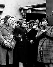WWII English Women Served Hot Coffee Photo Print for Sale