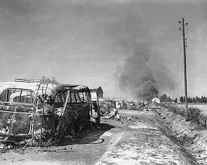 WWII German Convoy Destroyed by Americans Photo Print