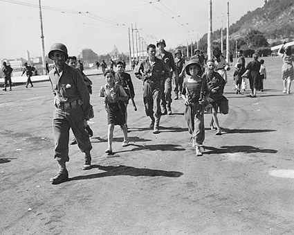 WWII Italian Children w/ American Soldiers Photo Print