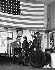WWII Kids w/ Scrap & Flag Jack Delano 1942 Photo Print for Sale